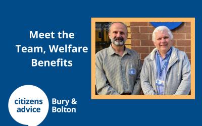 Meet the team – Ian, Welfare Benefits supervisor